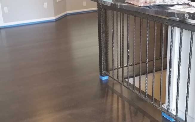 Black Oak hardwood Wood Floor Install Spokane
