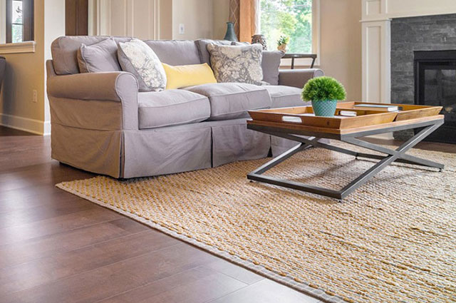 Area Rug on Hardwood Floors